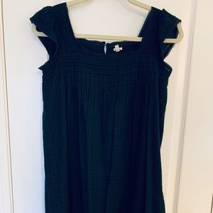 J.Crew navy cotton summer dress.